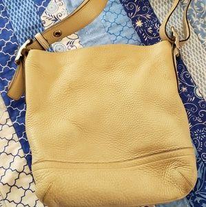 Coach bag, hobo style, tan